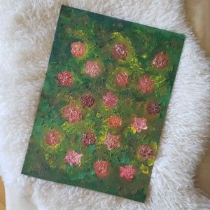 👑 FLORAL OIL PAINTING!
